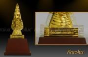 Ý nghĩa rồng thời Lý   Đầu rồng mạ vàng 24K làm quà tặng phong thủy