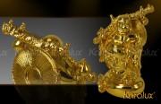 Phật Cười Di lặc đứng trên túi tiền bằng vàng 24k tại Hà Nội, Tp HCM