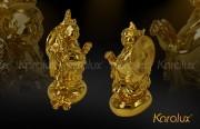 Quà tặng phong thủy ý nghĩa Phật Di lặc trên túi tiền đúc đồng mạ vàng 24k