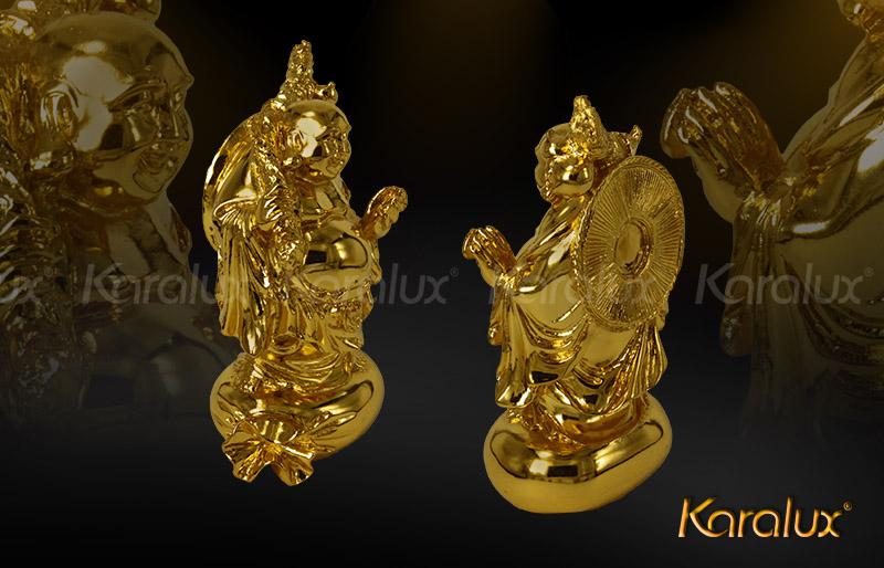 Bày trí tượng Phật Di lặc mạ vàng trong nhà, văn phòng, cơ quan