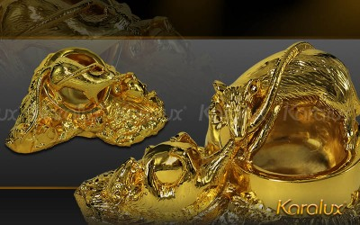 Giá bán gạt tàn Chuột phong thủy mạ vàng tại Hà Nội Tp HCM