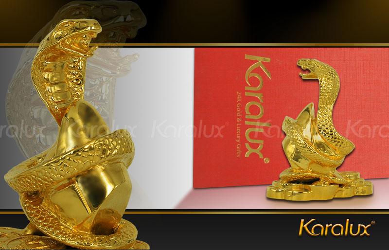 rắn phát tài đúc đồng mạ vàng