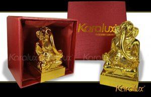 Thần Ganesha thông thái mạ vàng 24k