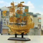 Quà tặng mạ vàng: Thuyền buồm phong thủy chở vàng bạc đầy nhà