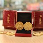 Đồng xu mạ vàng hình Khỉ làm quà tặng Tết ý nghĩa