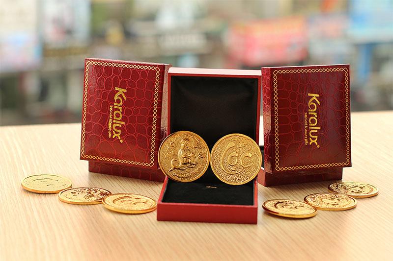 Đồng xu mạ vàng độc đáo bởi Karalux
