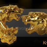 Quà tết tặng Sếp Tượng Hổ phong thủy mạ vàng