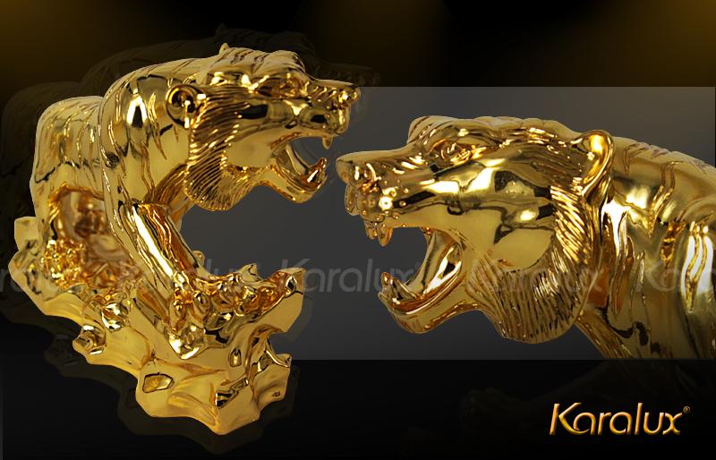 Tượng Hổ phong thủy mạ vàng 24K Quà Tặng Sếp độc đáo năm 2015