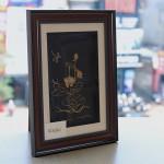 Quà tặng ngày 8/3: Bức tranh Hoa Sen mạ vàng độc đáo