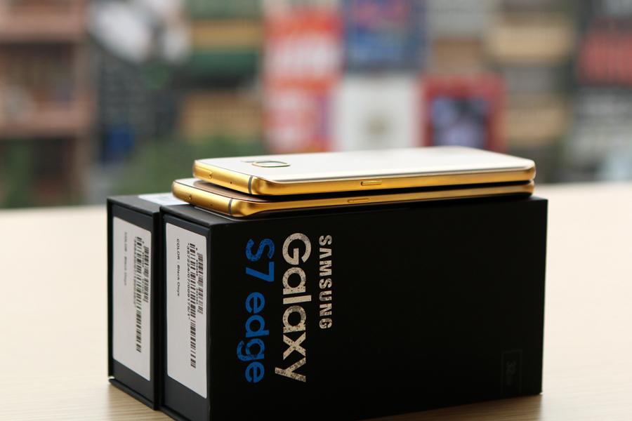 gold galaxy s7 edge, Samsung Galaxy mạ vàng 24K