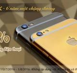 Chào mừng Karalux tròn 6 tuổi: Giảm giá 50% cho dịch vụ mạ vàng điện thoại