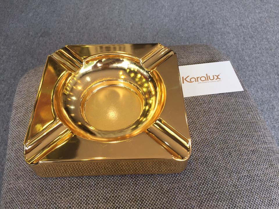 Bộ đồ hút Xì Gà mạ vàng 24K độc đáo