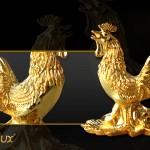 Tượng Gà trống sung túc mạ vàng đón xuân Đinh Dậu – 2017