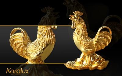 Tượng gà vàng sung túc quà tặng dịp tết 2017 cho Sếp, bạn bè hay người thân