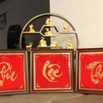 Quà mừng thọ Tết 2018: Tranh chữ Phúc – Lộc – Thọ mạ vàng bởi Karalux