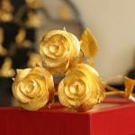 Hoa hồng mạ vàng quà Noel Ấm Áp, Ý Nghĩa
