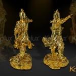 Tượng Trần Hưng Đạo đúc đồng mạ vàng