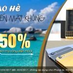 Chào hè sôi động GIẢM GIÁ 50% khi mạ vàng điện thoại