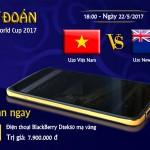 Thông báo người may mắn trúng thưởng Điện thoại BlackBerry DTEK50 mạ vàng