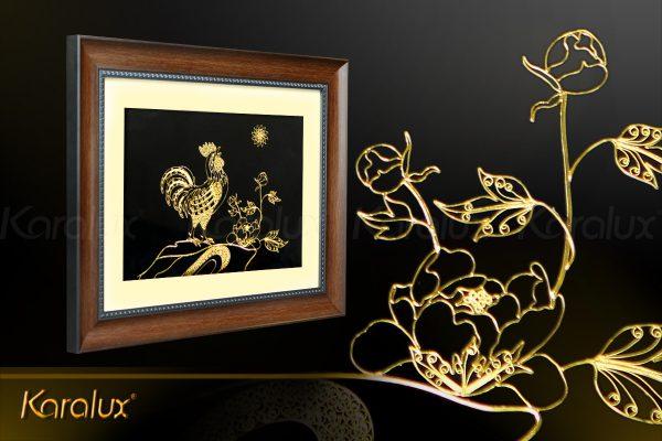 Tranh linh vật gà vàng- quà tặng ý nghĩa cho người tuổi Dậu