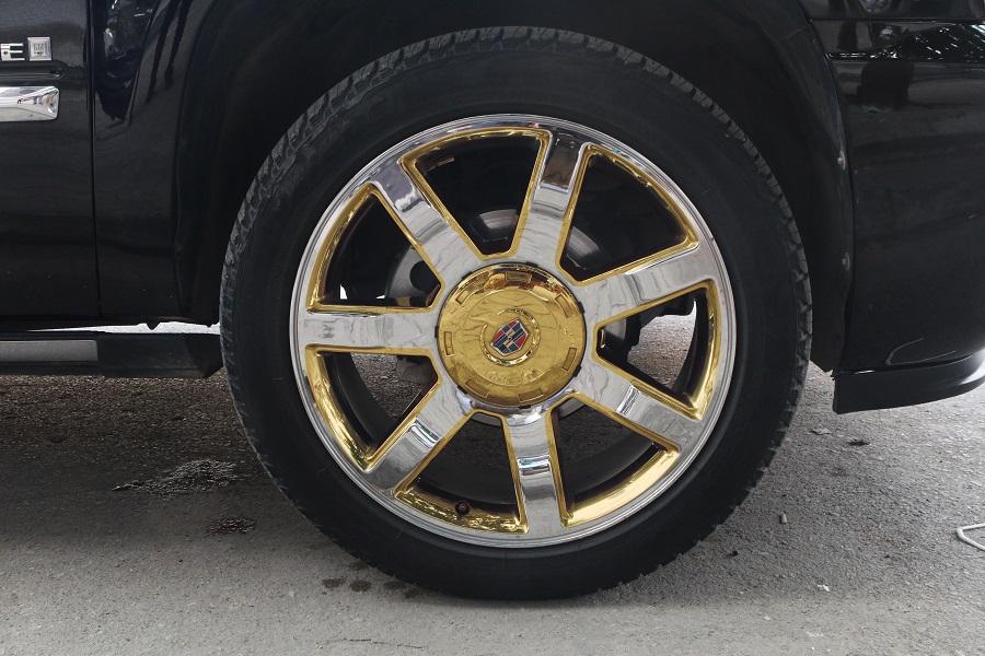 Lazang xe ô tô mạ vàng