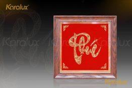 Tranh chữ Lộc chế tác thủ công tinh xảo từ sợi bạc, mạ vàng 24K bởi nghệ nhân kim hoàn Karalux