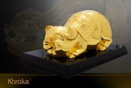 Tượng heo vàng Phúc Lộc Thọ