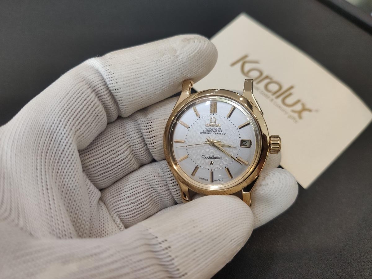 Mặt đồng hồ Omega sau khi mạ vàng 18k