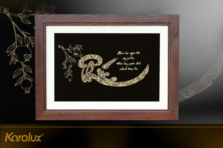 Tranh chữ Phúc Lộc Thọ được thiết kế với nhiều kích thước, thiết kế khác nhau