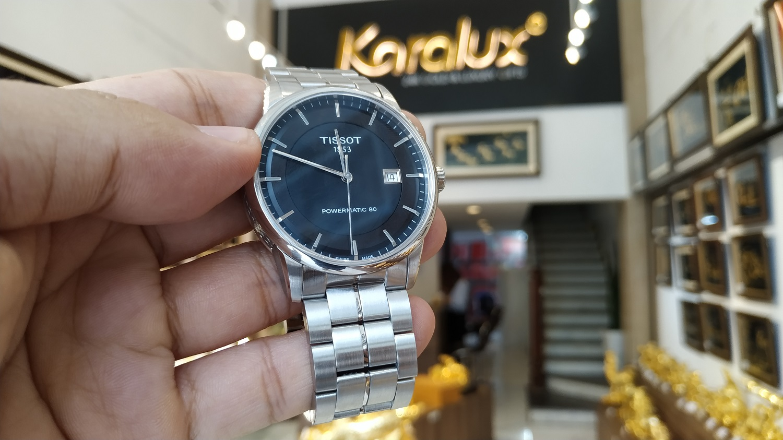 Đồng hồ Tissot Powermatic 80 mới nguyên được khách hàng gửi đến Karalux mạ vàng cứng Pre Gold